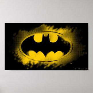 Batman Logo Black and Yellow Poster