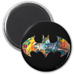 Batman Logo Neon/80s Graffiti Fridge Magnet