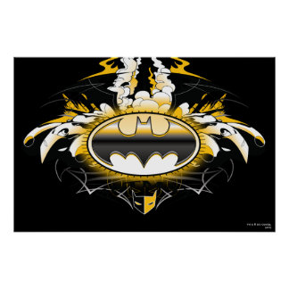 Batman Logo with Cars Poster