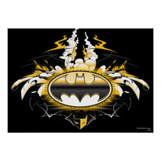 Batman Logo with Cars Posters