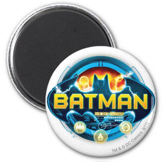 Batman Logo with Icons Fridge Magnets