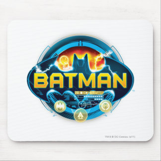Batman Logo with Icons Mouse Pad