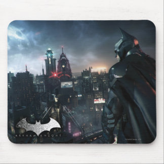 Batman Looking Over City Mouse Pad