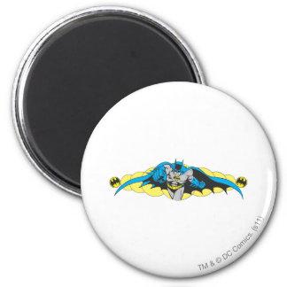 Batman Lunges Forward 6 Cm Round Magnet