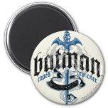 Batman | Name with Sword Logo 6 Cm Round Magnet