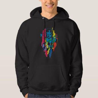Batman Neon Marker Collage Hooded Pullovers