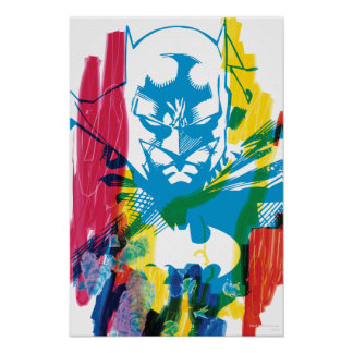 Batman Neon Marker Collage Poster