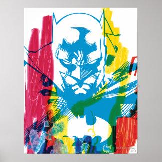 Batman Neon Marker Collage Poster