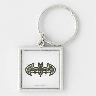 Batman Nouveau Logo 2 Silver-Colored Square Key Ring