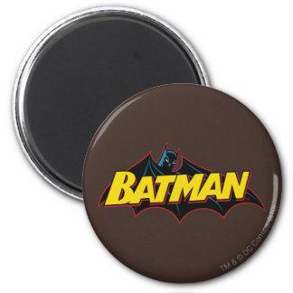 Batman Old School Logo 6 Cm Round Magnet