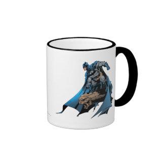 Batman on gargoyle ringer mug