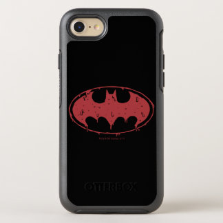 Batman | Oozing Red Bat Logo OtterBox Symmetry iPhone 8/7 Case