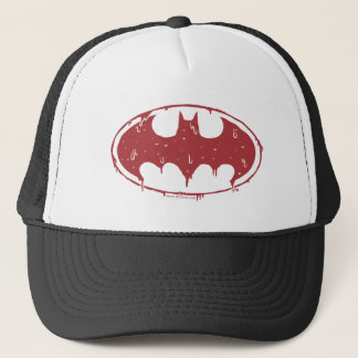 Batman | Oozing Red Bat Logo Trucker Hat