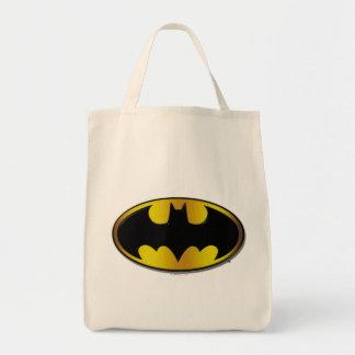 Batman Oval Logo Grocery Tote Bag