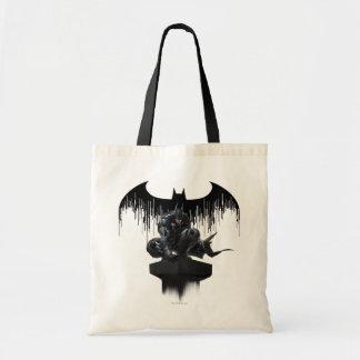 Batman Perched on a Pillar Budget Tote Bag