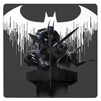 Batman Perched on a Pillar Clocks