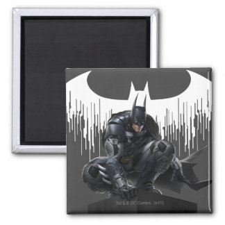 Batman Perched on a Pillar Magnet