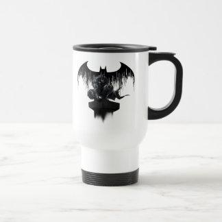 Batman Perched on a Pillar Stainless Steel Travel Mug