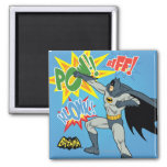 Batman Punching Graphic Square Magnet