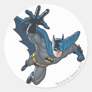 Batman Reaches Forward Round Sticker