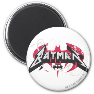 Batman | Red and Black Logo 6 Cm Round Magnet