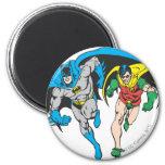 Batman & Robin 6 Cm Round Magnet