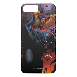 Batman & Robin Flight Over Gotham iPhone 8 Plus/7 Plus Case
