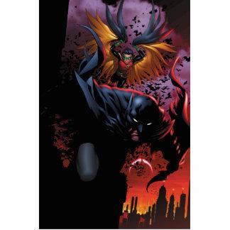 Batman & Robin Flight Over Gotham Cut Outs