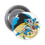 Batman & Robin Profile 6 Cm Round Badge