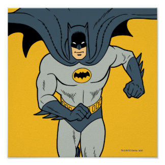 Batman Running Poster