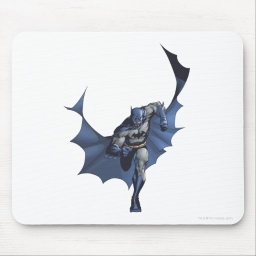 Batman runs with flying cape mouse pad