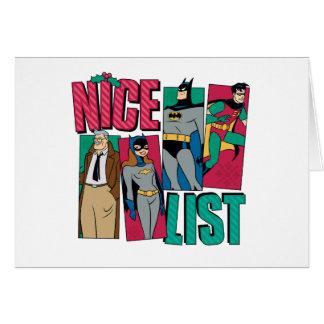 Batman | Santa Nice List of Heroes Card
