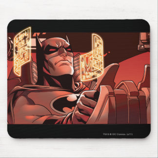 Batman Scene in red Mouse Pad