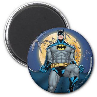 Batman Scenes - Moon Front View 6 Cm Round Magnet