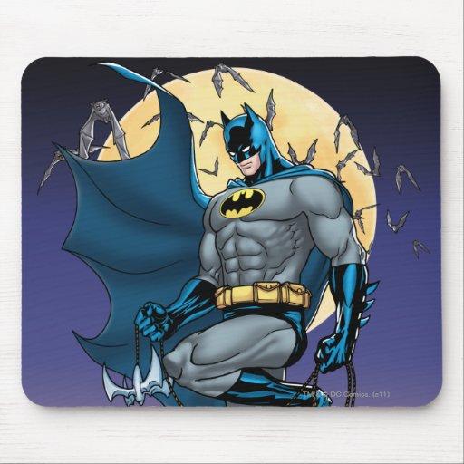 Batman Scenes - Moon Side View Mouse Pads