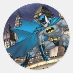 Batman Scenes - Tower Round Stickers