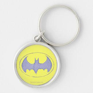 Batman Sketchbook 1 Silver-Colored Round Key Ring
