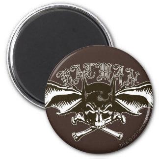 Batman Skull Cowl Batwings Logo 6 Cm Round Magnet