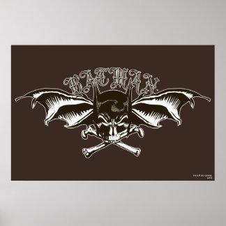 Batman Skull Cowl Batwings Logo Posters