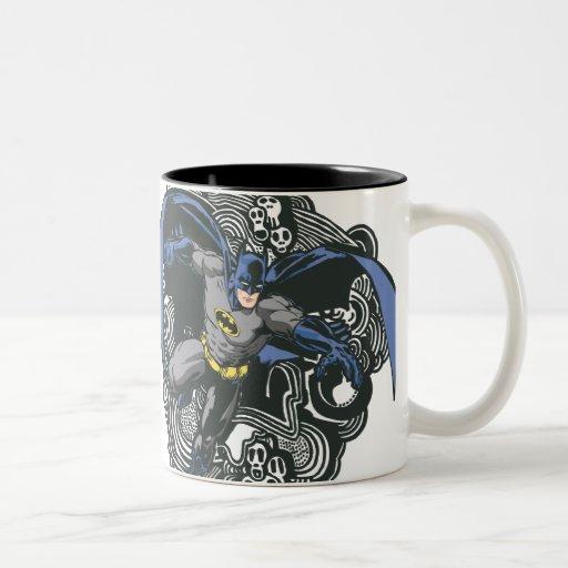 Batman Skulls/Ink Doodle 2 Coffee Mug