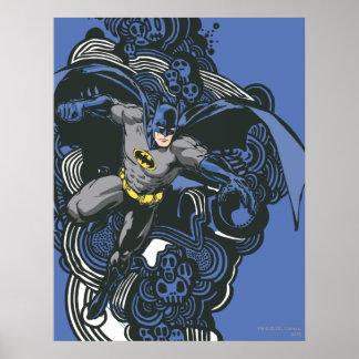 Batman Skulls/Ink Doodle 2 Print