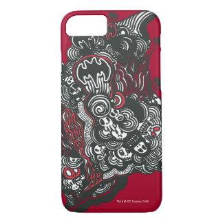 Batman Skulls/Ink Doodle iPhone 8/7 Case