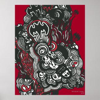 Batman Skulls/Ink Doodle Print