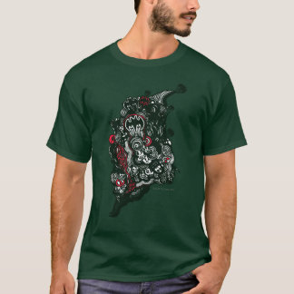 Batman Skulls/Ink Doodle T-Shirt