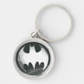 Batman Spray Symbol 2 Silver-Colored Round Key Ring