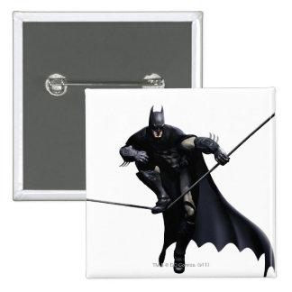 Batman Stepping On Line Pinback Buttons