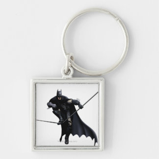 Batman Stepping On Line Silver-Colored Square Key Ring