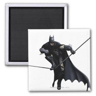 Batman Stepping On Line Square Magnet
