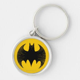 Batman Streak Logo Silver-Colored Round Key Ring