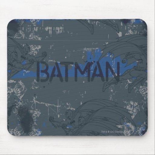 Batman Street Heroes - 3 - Blue/Grey Pattern Mouse Pads